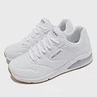 Skechers 休閒鞋 Uno 2-Air Around You 女 街頭時尚 氣墊 支撐緩衝 耐用 皮革 白 棕 155543WHT 22.5cm WHITE