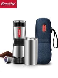 Barsetto Tripresso กลางแจ้งแบบพกพาภาษาอิตาเลี่ยนกาแฟเครื่องทุ่มเทกระเป๋าเดินทาง