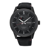 Seiko SSA383K1 Anolog Automatic Black Nylon Men Watch