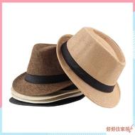 男女皆宜的Fedora Trilby帽子帽草編巴拿馬風格可打包旅行太陽帽 新品全新上綫 超值批發價