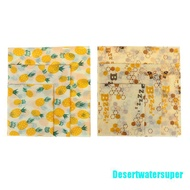[Desertwatersuper] Food Wrap Beeswax Reusable Sustainable Plastic Free Beeswax Food Storage Wrap