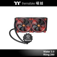 曜越 Water 3.0 Riing Red 280 一體式水冷散熱器 CL-W138-PL14RE-A