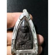 阿贊弄 2540 Mun Dop 金符管 (千變萬化符管) 模A 龍普托 完美收藏品相 純銀殼 原廟盒 薩瑪空鑑定