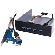 【伽利略】PCI-E 前置 5.25吋USB3.0 4埠(U3H04H)