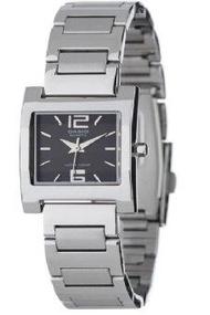 Casio นาฬิกาข้อมือผู้หญิง สายสแตนเลส รุ่น LTP-1283D-1A  - Silver/Black
