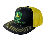 John Deere USA Vintage Trucker Cap Black & Yellow