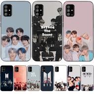 case Samsung A51 A71 A70 A02 M02 A12 4G TPU Soft anti-fall Phone Case black soft case Cover BTS