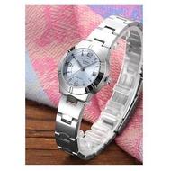 Casio Lady รุ่น LTP-1241D-2A นาฬิกาข้อมือผู้หญิง สายสแตนเลส หน้าปัดสีฟ้าสดใส (สินค้าขายดี) มั่นใจ ของแท้ 100% ประกันศูนย์ 1 ปีเต็ม