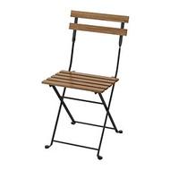 IKEA TÄRNÖ 戶外餐椅, 折疊式 黑色/淺棕色
