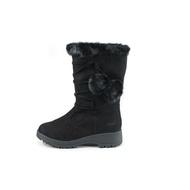 (女)【ESKT】簡易冰爪高筒雪靴-黑 SN238-BK