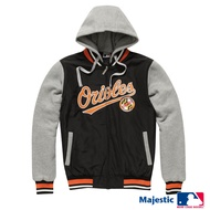 MLB - 金鶯隊 鋪棉連帽針織撞色棒球外套 (男) (5560703)