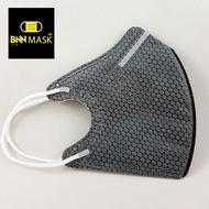 BNNxMASK 過濾效果達N95等級規範 立體U鼻樑 泡泡活性碳 防飛沫濾味四層防塵拋棄式口罩 50入 成人尺寸