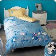 日本迪士尼代購·預購-愛麗絲夢遊仙境 寢具組 單人 床包 被套 枕套 棉混 刺繡