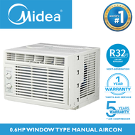 MIDEA 0.6 HP Aircon HIGH EER 11.5 R32 Inverter Grade Refrigerant Energy Saving Efficient For Small Room Fast Cool Airconditioner / 0.6HP Air Conditioner Window Type Manual Non-Inverter AC Unit NO TIMER FP-51ARA006HMNV-N5 Home Appliances on Sale