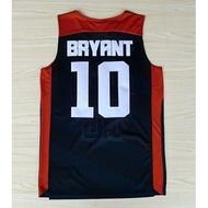 美國隊奧運會球衣 夢十#10號 KOBE BRYRNT柯比 科比 刺繡 夢之隊籃球衣 深藍