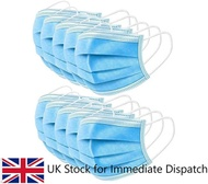10pcs UK Stock 3-Ply Fluid­ Resistant Surgical Face Mask with Ear Loops by Kynssön™