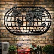 LOFT工業風世界地圖 鐵藝金屬壁牆裝飾 辦公室.酒吧.餐廳.居家鐵皮掛畫掛飾