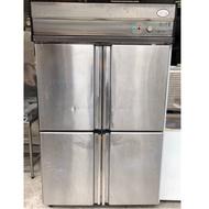 《祥順餐飲設備》二手四門管冷冰箱/四門管冷冰箱/四門冷凍冷藏冰箱/220v