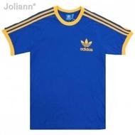 ✚☬Adidas California T-shirt 3 Stripes - Blue / Yellow