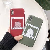 VIVO CASE S1(Have fingerprints)Y17 Y3 Y7S Z5 Z5X Photo Frame Bare Bear We Bare Bears Cute Cartoon Phone Case Soft Silicon For Phone  Phone Protection Accessories