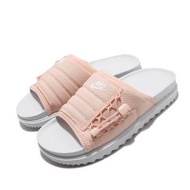 【NIKE 耐吉】涼拖鞋 Asuna Slide 套腳 女鞋 輕便 舒適 夏日 簡約 穿搭 白 粉(CI8799-100)