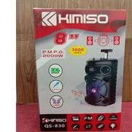 "KIMISO QS -830 PORTABLE PARTY SPEAKER BLUETOOTH 8""."