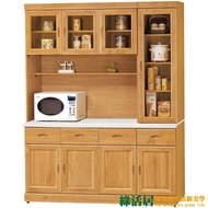 【綠活居】艾戈利   時尚5.3尺雲紋石面實木餐櫃/收納櫃組合(上+下座)