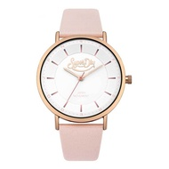 Superdry Oxford Pastel SYL190CRG Analog Quartz Pink Leather Womens Watch