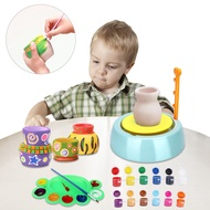 ♥♡yunkan♥♡Pottery Wheel Toys Kit Clay Pottery Wheel Craft Kit DIY Pretend Play Toys Set for Children Aged 8 and Up