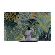 Tv Dust Cover Lcd Screen Protector Cloth Towel Printing Simple 65 Inch Forest Illustration
