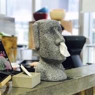 【MERCI Design】鼻抽摩艾面紙盒-禮盒版(摩艾 面紙盒 鼻抽)
