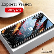 For Galaxy A50 5G Technology Core Cartoon Glass Case