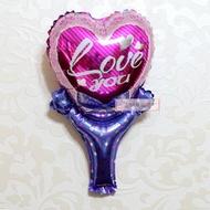 愛心鋁箔膜氣球棒40*24公分,婚禮裝飾布置, 婚紗照錫箔球