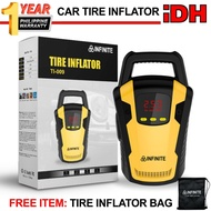Digital Air Compressor Car Tire Inflator Heavy Duty Pump Tire Inflator  with LED Work Light   DC-12V 150W Line Length 3M TI-009 Infinite Tire Inflator with Free Bag