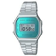 CASIO 卡西歐 電子錶 復古經典電子男錶 不鏽鋼錶 生活防水 碼錶功能 A168WEM-2D