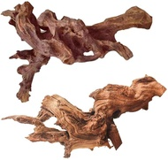TankDecor 2 Pack Large Natural Driftwood for Aquarium Wood Reptile Branches – Great for Fish Tank(9-14inch)