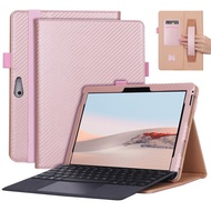 Flip Cover For Microsoft Surface Go/Go 2 All-in-One Protective Rugged Cover Case , PU Leather Case Cover with Card Slot with Pen Holder Hand Strap Compatible with Surface Go 2 2020 / Surface Go 2018 10 inch