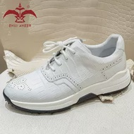 Pure รองเท้าลำลอง100% Cro รองเท้าหนังผู้ชาย Lady รองเท้าผ้าใบ Handmade Designer รองเท้า Patina สีขาว