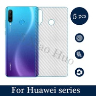 (5 PCS) 3D Carbon Fiber Back Cover Protective Film For Huawei Nova 2i 3i P30 Pro P20 Screen Protector Sticker