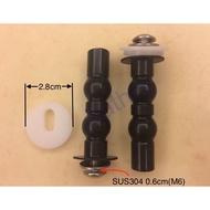 衛浴王 TOTO 加長螺絲 圓型固定片28mm 上鎖式螺絲 馬桶蓋螺絲 馬桶蓋 膨脹螺絲 D30115Z 替換