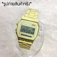 【Collection】(HOT) นาฬิกา คาสิโอ casio F-91 สายสแตนเลส สายสีทอง พิ้งค์โกล์ด ดำ เงิน สายยางเรซิ่น
