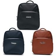 Shoestw【69553204-】KANGOL 英國袋鼠 小後背包 側背包 協背包 皮革 三種顏色 黑色 咖啡色 深藍色