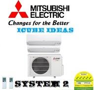 MITSUBISHI SYSTEM 2 (5 TICKS) Starmex ( MSXY FN10VE + MSXY FN18VE ) AIRCON | 2G20VA2 | MULTI SPLIT|