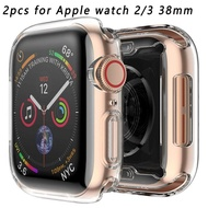 SIVDK Case For Apple Watch Series 5 4 3 2 Thin Clear TPU Screen Protector  Cover
