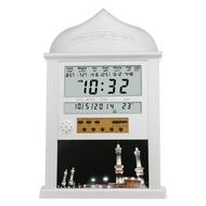 Islamic Wall AZAN CLOCK Alarm Calendar Pray Remind Qibla Direction