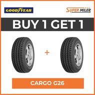 2pcs GOODYEAR 185R14C CARGO G26 Car Tires