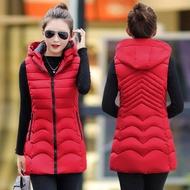 秋冬新款羽絨棉馬甲女中長款韓版修身顯瘦大碼坎肩棉背心外套
