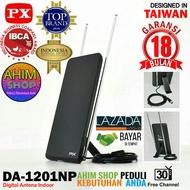 PX DA-1201NP Indoor Antenna TV Digital + Kabel Coaxial 175cm UHF/VHF Antena Dalam Desain Luxury