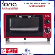 IONA GL103 10L OVEN TOASTER, 1 YEAR WARRANTY GL 103