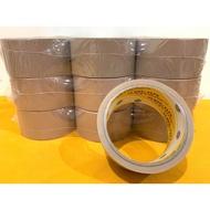(24小時出貨) 地球牌  免刀布紋膠帶  48mm*14碼  PVC膠帶 咖啡色膠帶  封箱膠帶